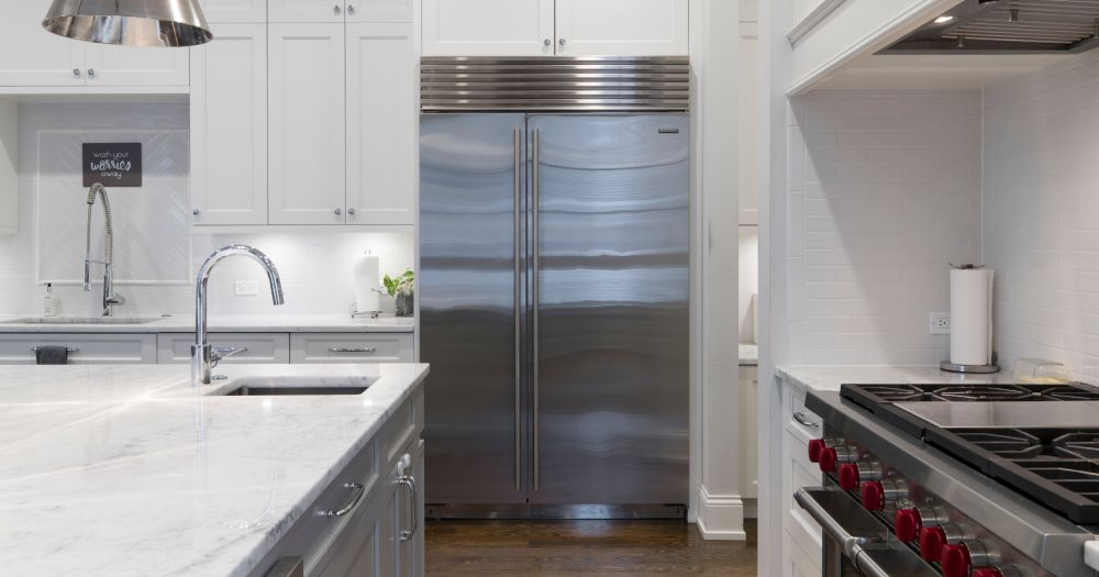 Built-in side-by-side refrigerator