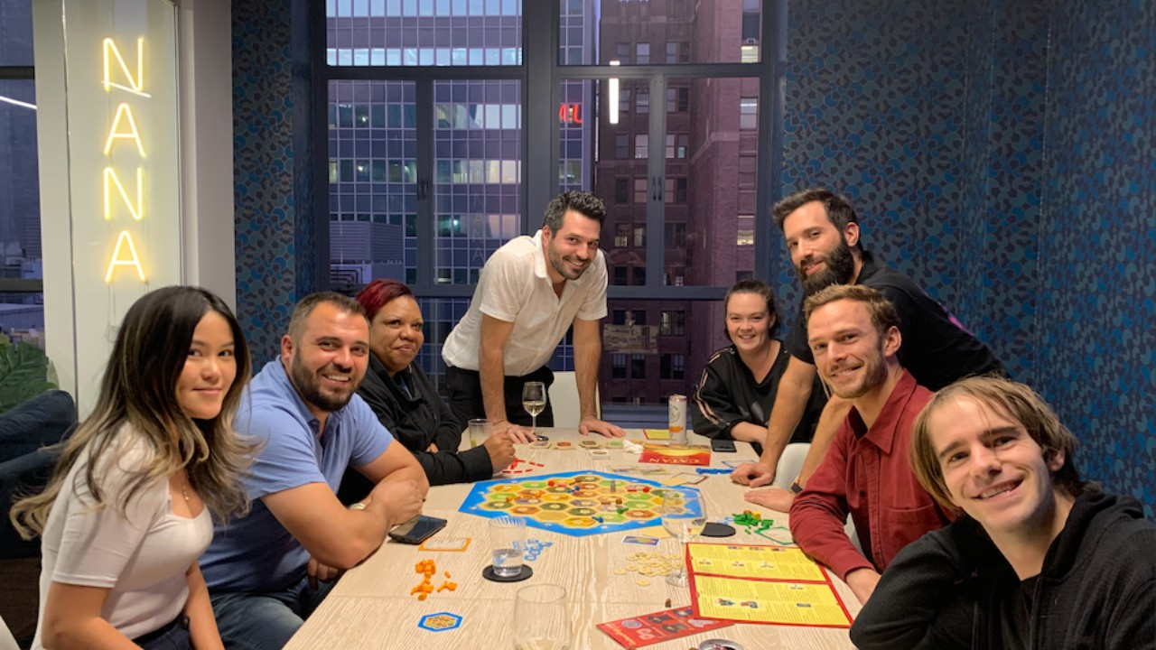 The Nana Technologies team during a team building session.